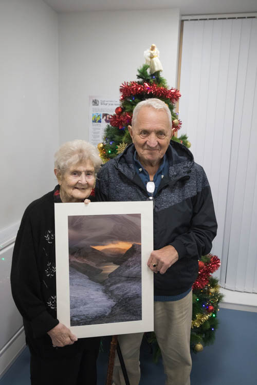 Alice Hennity & Brian Moyles - Ben Crom residents  with the print.