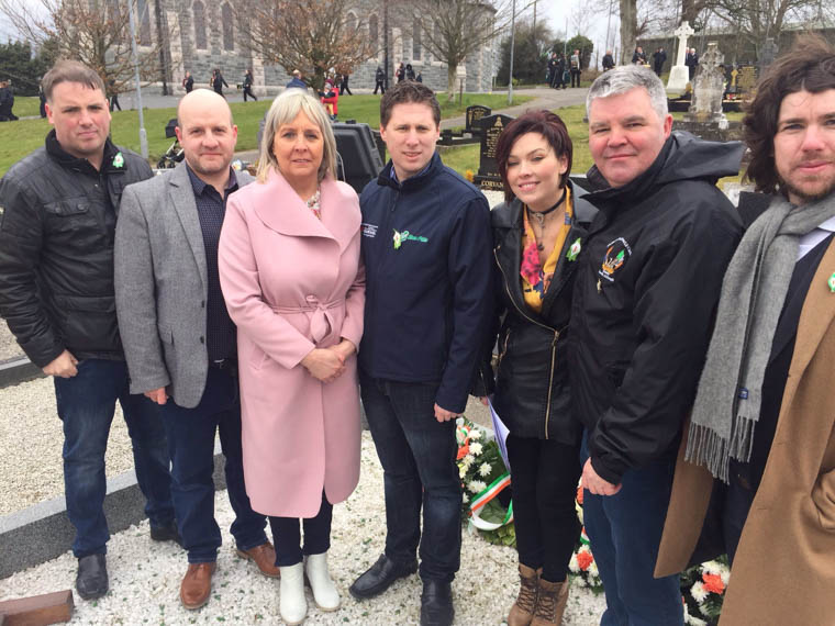 Matt Carthy MEP pictured at Ballymacnab annual  Easter 1916 Commemoration with Sinn Féin elected representatives and activists
