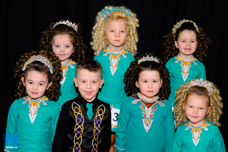 Competitors from the Gallagher School of Irish Dancing at the opening day of Newry Feis. Photograph: Columba O'Hare/ Newry.ie