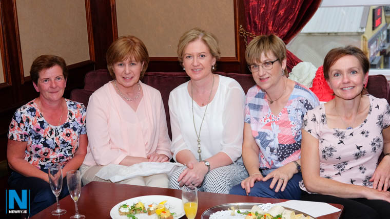 Catherine Dooley, Teresa McArdle and Jane Graham, Ravensdale; Martina Masterson, Poyntzpass and Naoimh Mathers, Beleeks at the launch of the 90th year of Newry Musical Feis. Photograph: Columba O'Hare
