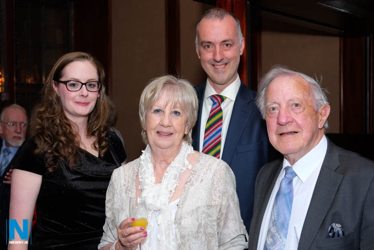 Mollie and Lowry Hodget with Frances and Graham Hamilton at the launch of the 90th year of Newry Musical Feis. Photograph: Columba O'Hare