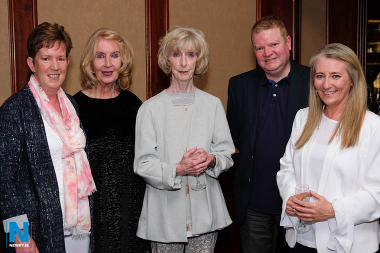 Marian McGauley, Bridie Devlin, Eileen Ferguson, Patrick Kelly and Paula Rafferty at the launch of the 90th year of Newry Musical Feis in the Canal Court Hotel. Photograph: Columba O'Hare