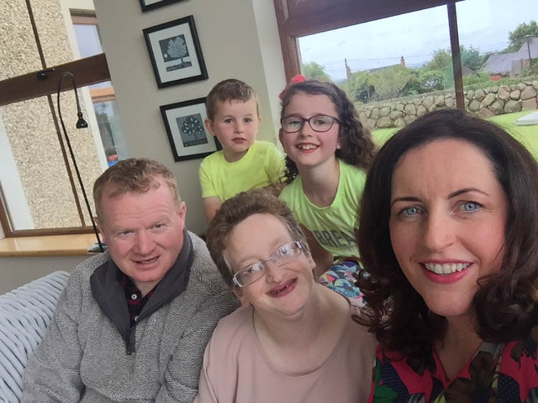 Host Family Bronagh and her children Josh and Maia with Robert and Sarah.