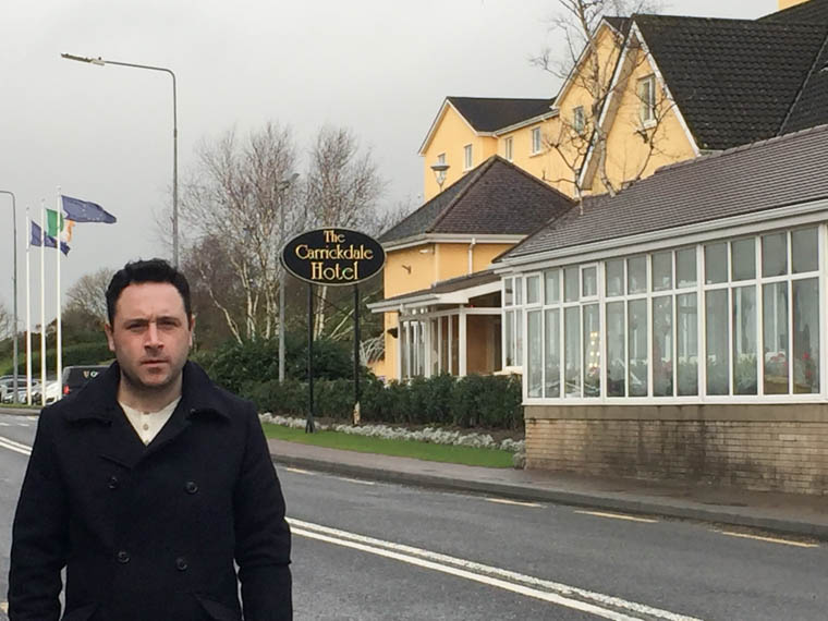Cllr Pete Byrne outside the Carrickdale Hotel, venue of February's Brexit  conference
