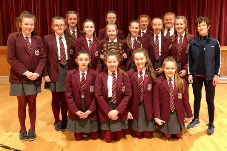 St Paul's Year 9s, who were recently crowned U13 Ulster Netball Champions.