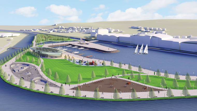 How the Albert Basin Park could look.