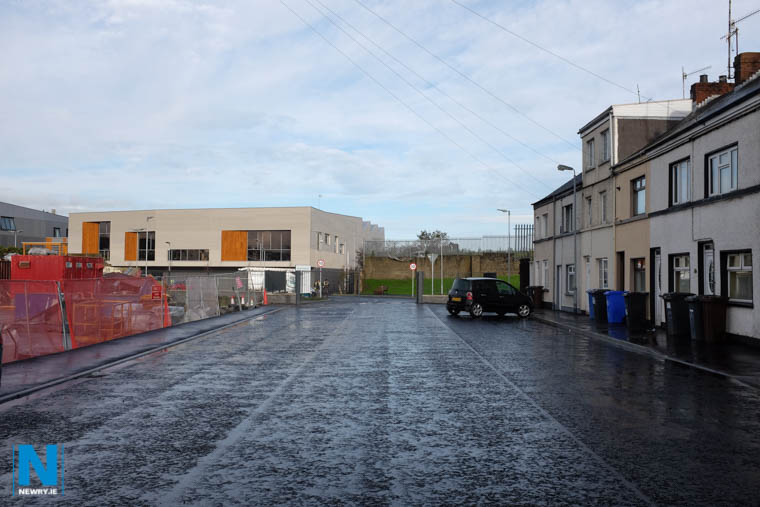 The new entrance to Newry Leisure Centre via Cecil Street. Photograph: Columba O'Hare