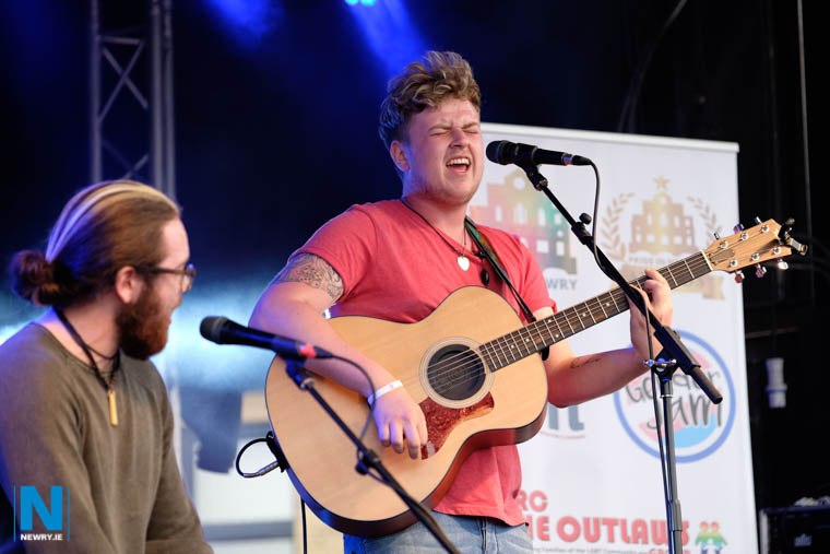 Caolan Dooley performing at the 2017 Pride in Newry Festival. Photograph: Columba O'Hare