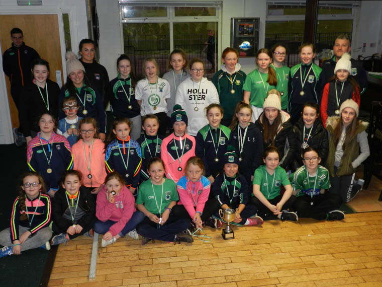Shane O'Neill's U12 girls at their underage presentation on Sunday afternoon