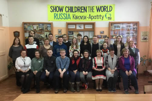 The St Paul's School team who visited Kirovsk in Russia.