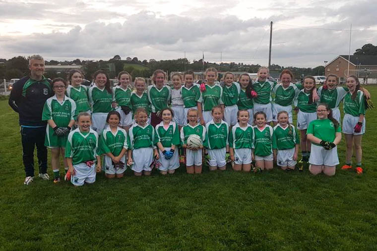 Shane O'Neill's U12 girls who play in the championship final on Thursday evening
