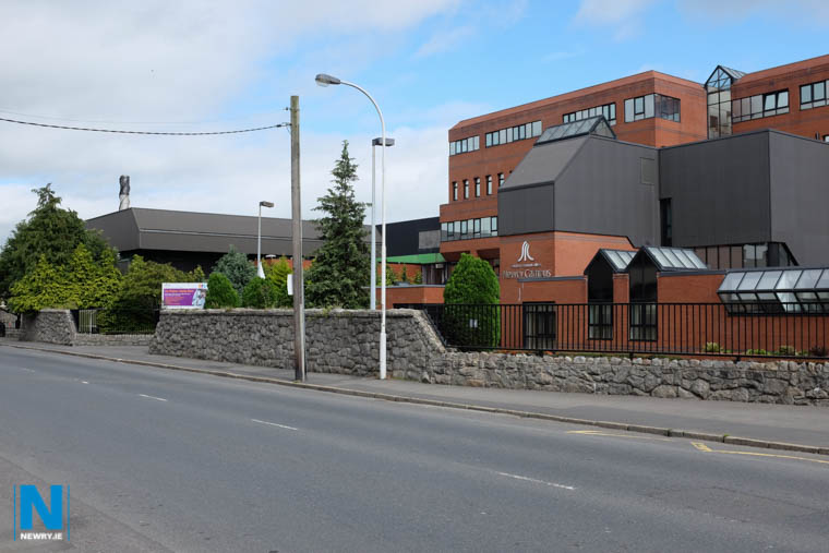 The wall in front of the East Campus of SRC in Newry. Photograph: Columba O'Hare/ Newry.ie