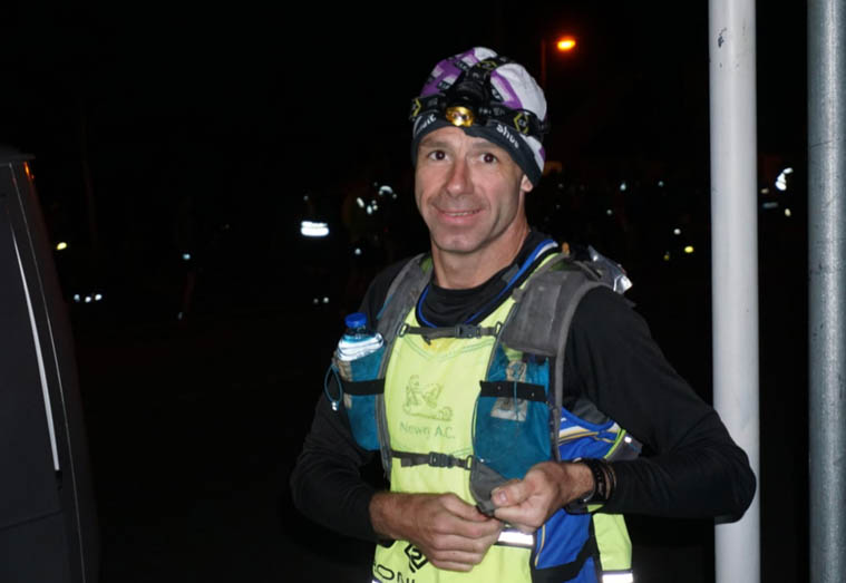 Noel Carr on the night section of the Wicklow Way 80 Mile Ultra