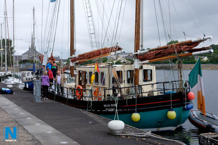 The Brian Boro Tall Ship at Albert Basin in July. Photograph: Columba O'Hare/ Newry.ie