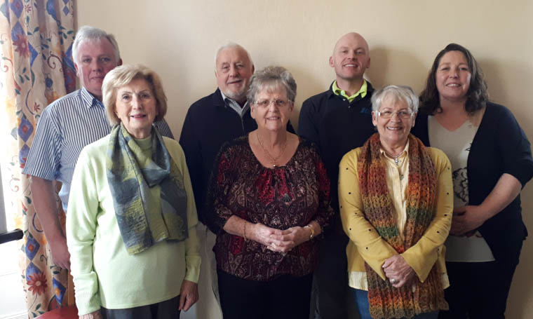 Class participants included from left, back: Robert Davidson, Jackie Corr, Fergal Devlin and Bernarde Kilgallon Lipreading tutor Front: Maureen Connolly, Joy Hawthorne and Bernie McCabe Missing from photo Ernie Hawthorne