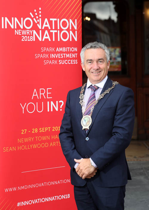 Cllr Mark Murnin, chair of Newry, Mourne and Down District Council looking forward to the Innovation Nation Conference.