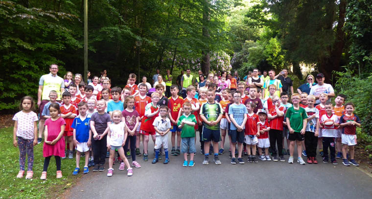 Some of those who enjoyed the Craobh Rua Underage Fund-raising Walk & Barbecue