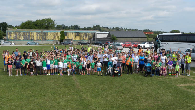 Some of those who took part in Shane O'Neill's Family & Friends sponsored walk on Sunday