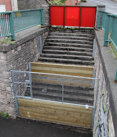 Construction work has begun on the terraced garden at High Street in Newry.