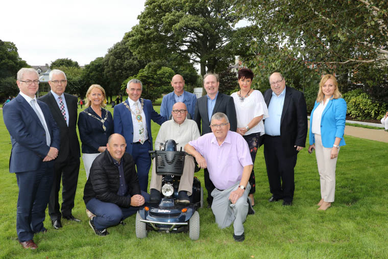 Members of the Steering committee with Chairman Newry, Mourne and Down Council, Councillor Mark Murnin and Mark Robinson and Sheila McClelland Heritage Lottery Fund and local councillors, Michael Ruane, Oksana McMahon, Jarlath Tinnelly and Michael Carr.