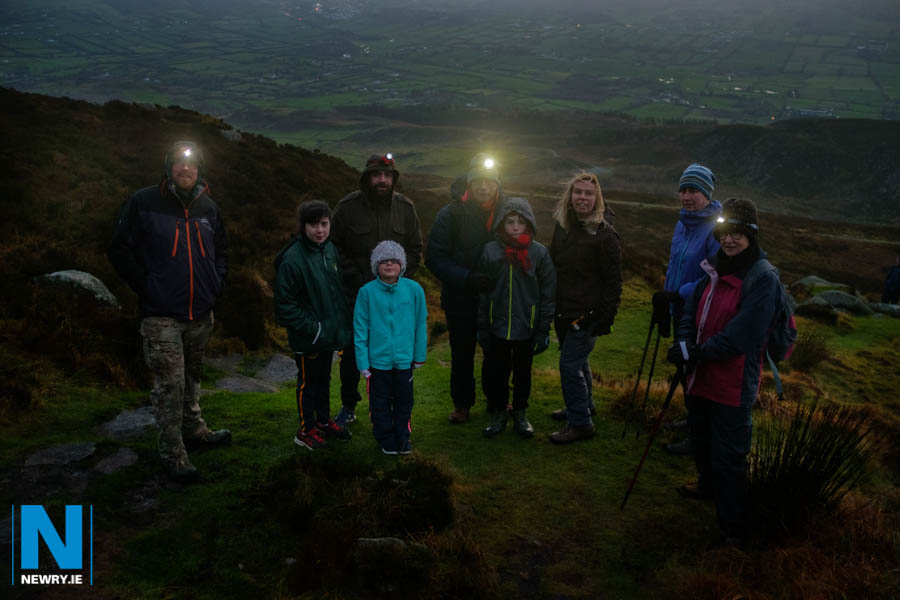 Walkers on Slieve Gullion for the annual Cairn Hike. Photograph: Columba O'Hare/ Newry.ie