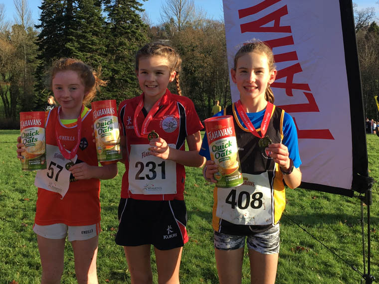 Mia Mullon from Christian Brothers PS (2nd), Lily Rimmer from Moira PS (1st) and Lyndsey Kelly from St. Patrick's PS, Crossmaglen (3rd)