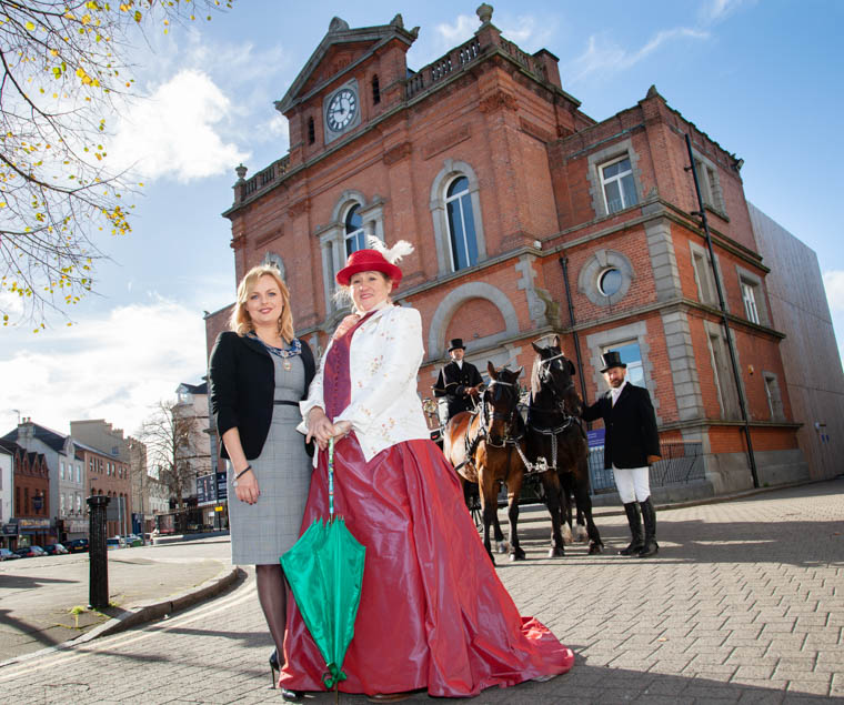 Deputy Chairperson, Newry, Mourne and Down District Council, Oksana McMahon and Liz Kelly from L&M Carriage Driving getting ready for the Great Workhouse Escape at the City of Merchants.