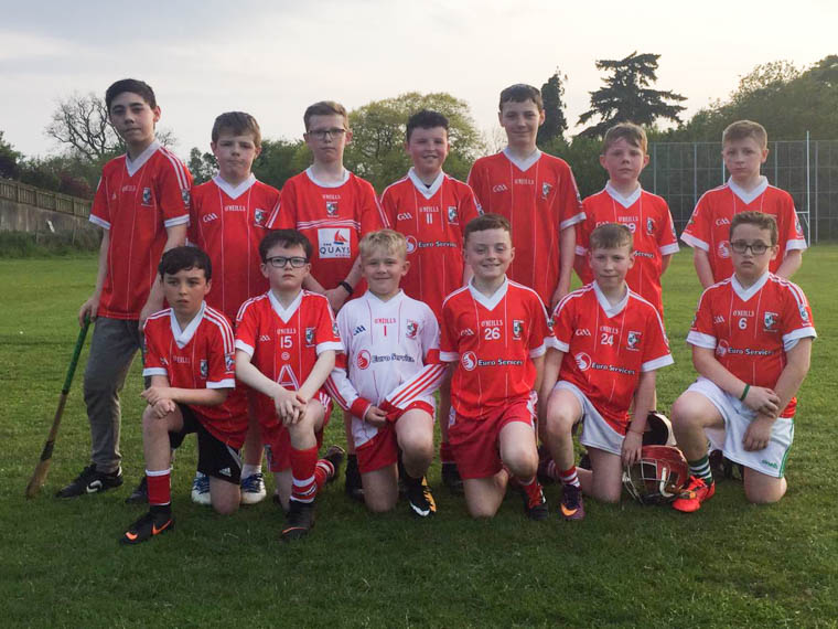 Craobh Rua U12.5 team who  played Derrynoose