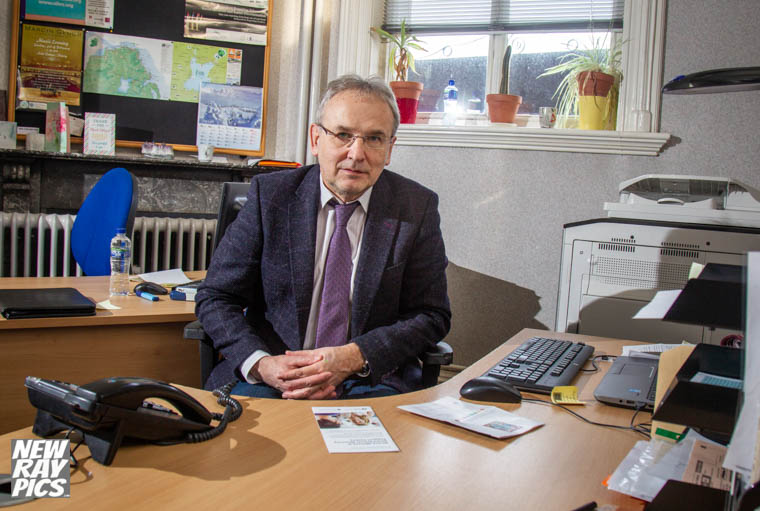 Artur Kmiecik in his office at Newry Town Hall. Photograph: NewRayPics.com