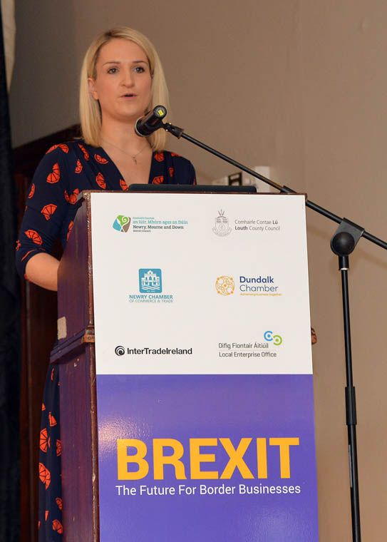 Helen McEntee TD, Minister of State for European Affairs delivers keynote address at the major cross-border conference, Brexit – The Future For Border Businesses.