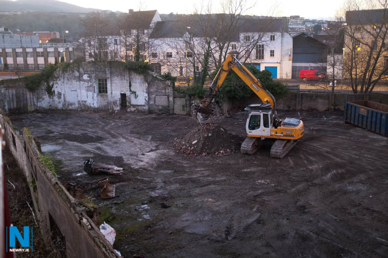 The rear of the Newry Town Hall and Arts Centre was cleared in 2014 and will form part of the new site landscaping. Photograph: Columba O'Hare/ Newry.ie