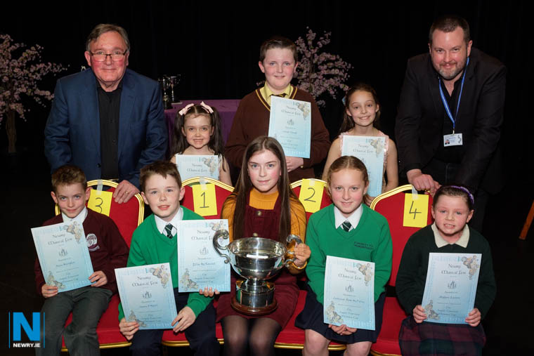 Finalists in the August Toremans Memorial Cup class at Newry Musical Feis. Photograph: Columba O'Hare/ Newry.ie