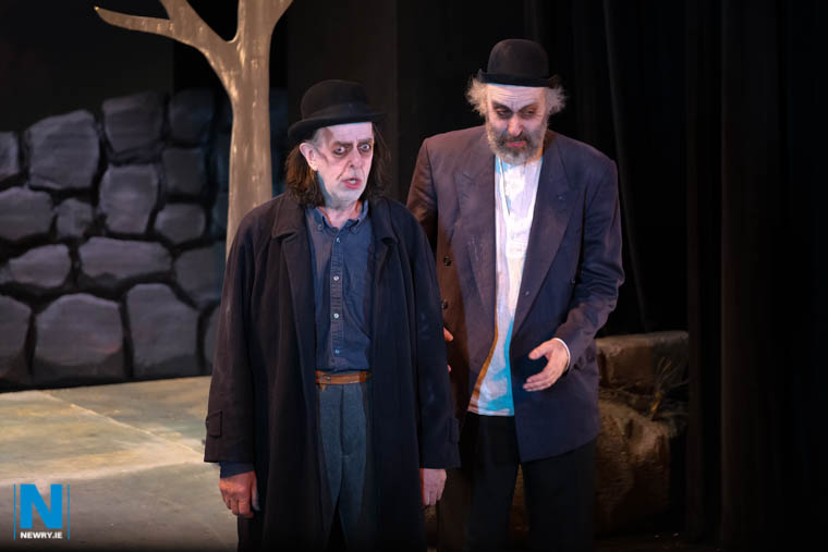 Third placed Newpoint Players perform Waiting For Godot by Samuel Beckett at Newry Drama Festival 2019. Photograph: Columba O'Hare/ Newry.ie