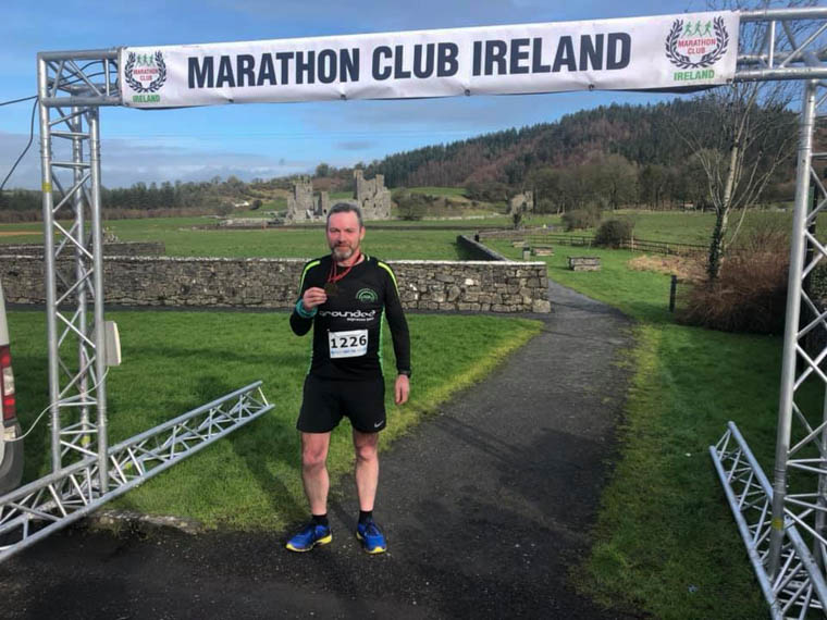 Eamon Murphy finished in third place at the Marathon Club Ireland event in Castlepollard.