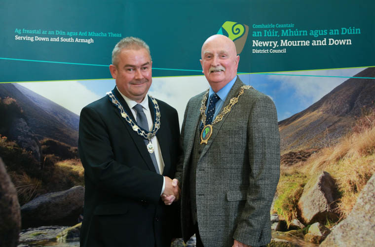 Chairperson Councillor Charlie Casey (right) and Deputy Chairperson Councillor Terry Andrews.