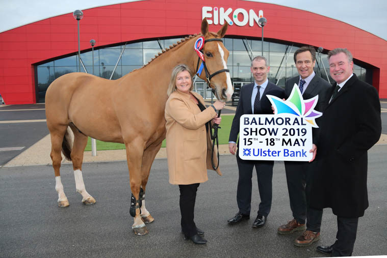 Kickstarting the countdown to the 2019 Balmoral Show is Rhonda Geary, Operations Director, RUAS; Nigel Walsh, Commercial Director, Ulster Bank; Cormac McKervey, Head of Agriculture, Ulster Bank and Alan Crowe, Chief Executive, RUAS