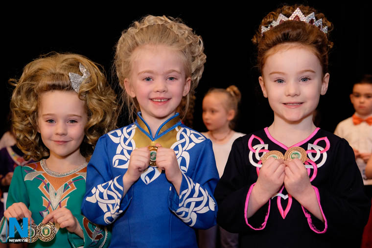Proudly showing of their Newry Feis Medals. Photograph: Columba O'Hare/ Newry.ie