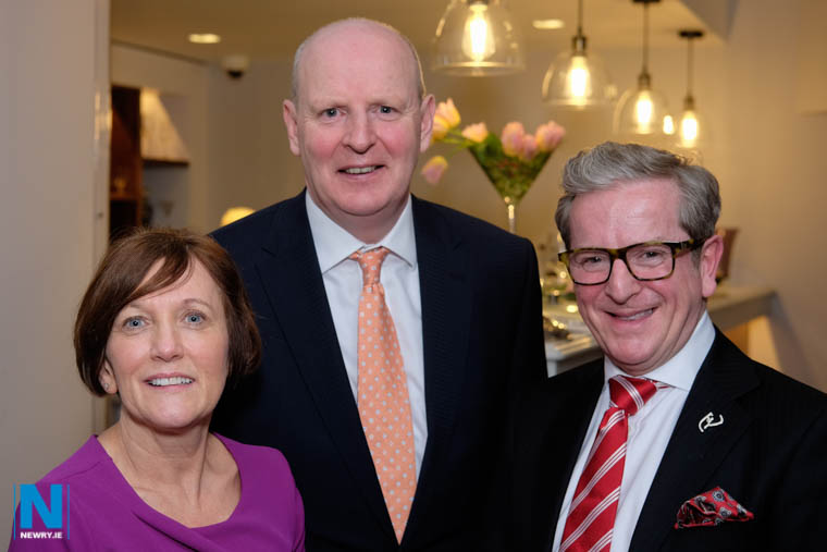 Beverley Harrison, Director of Further Education, Department for the Economy; Brian Doran, Chief Executive, SRC and James McGinn, Director, Hastings Hotels at the official re-opening of The Graduate Restaurant at the SRC. Photograph: Columba O'Hare/ Newry.ie