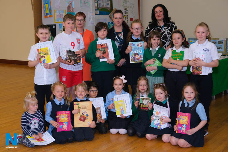 The Polish Supplemetary School at St Joseph's Boys High School in Newry held an Art Competition at the weekend to mark Polish Heritage Day. Pictured are some of the entrants, organisers and judges. Photograph: Columba O'Hare/ Newry.ie