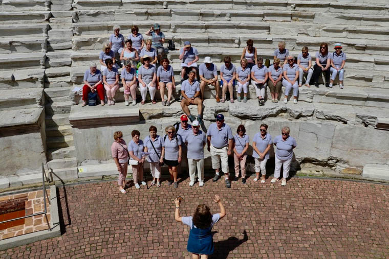 Accolade singing in Amphitheatre in Plovdiv
