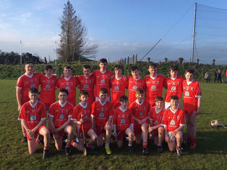 The Craobh Rua Under 15 team