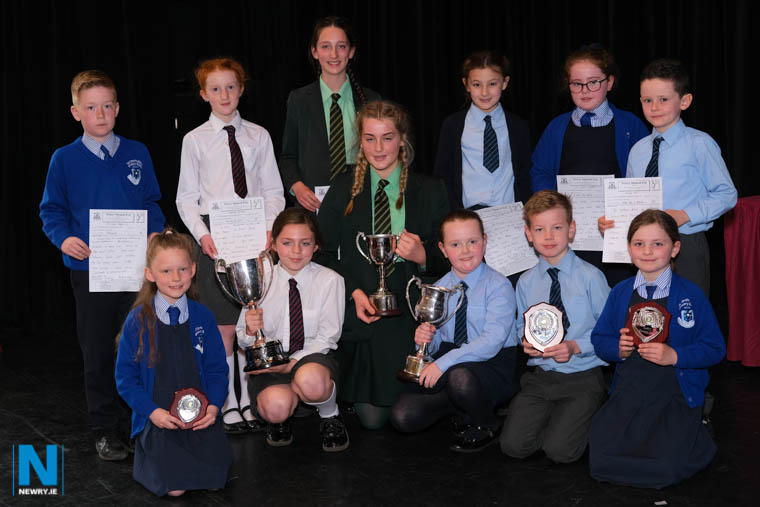 Choral Speaking prizewinners at Newry Feis from Sacred Heart Grammar School , Cumran PS, and Windsor Hill PS. Photograph: Columba O'Hare/ Newry.ie at Newry Feis. Photograph: Columba O'Hare/ Newry.ie