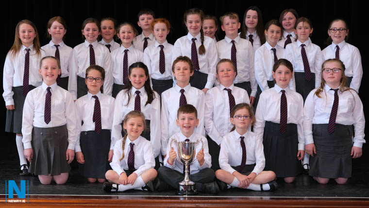 Cumran PS, Downpatrick was the wiiner of Choral Speaking Class 13  at Newry Feis. Photograph: Columba O'Hare/ Newry.ie