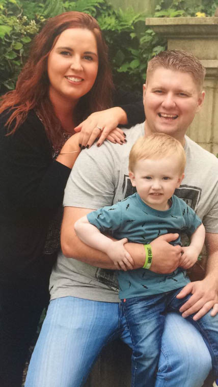Dan with his wife Aislin and son Daniel.