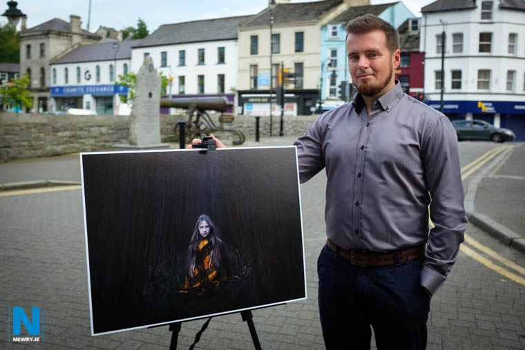Wojciech Palka with one of his exhibits. Photograph: Columba O'Hare/ Newry.ie
