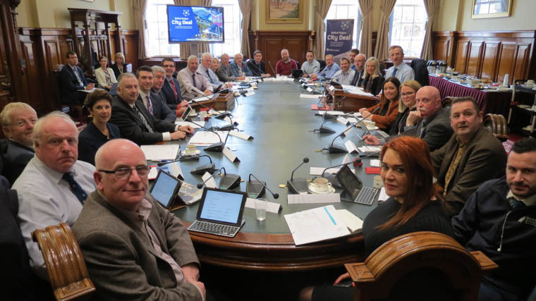 Pictured at the first meeting of the Belfast City Deal committee.