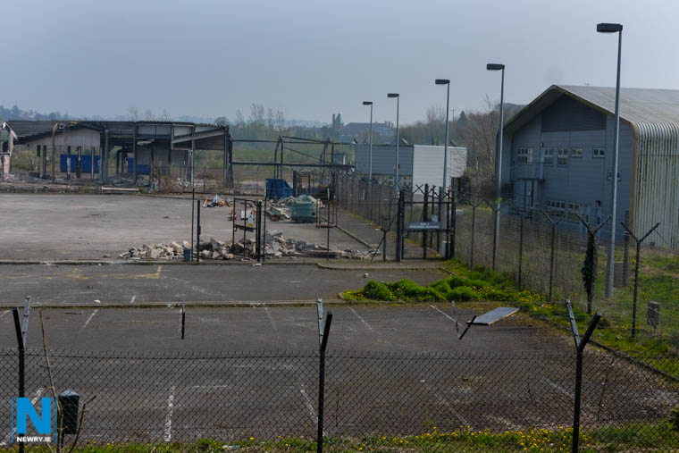 The site of the proposed development at Carnbane. Photograph: Columba O'Hare/ Newry.ie