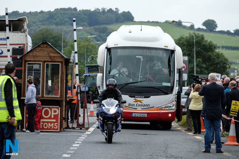 A Brexit Protest at Carrickcarnon. Photograph: Columba O'Hare/ Newry.ie