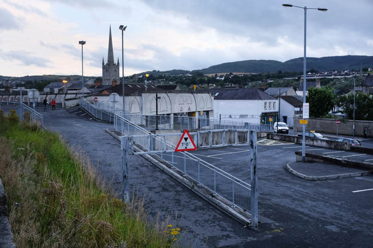 Abbey Way, the location picked for the new Newry, Mourne and Down Council Civic Centre. Photograph: Columba O'Hare/ Newry.ie