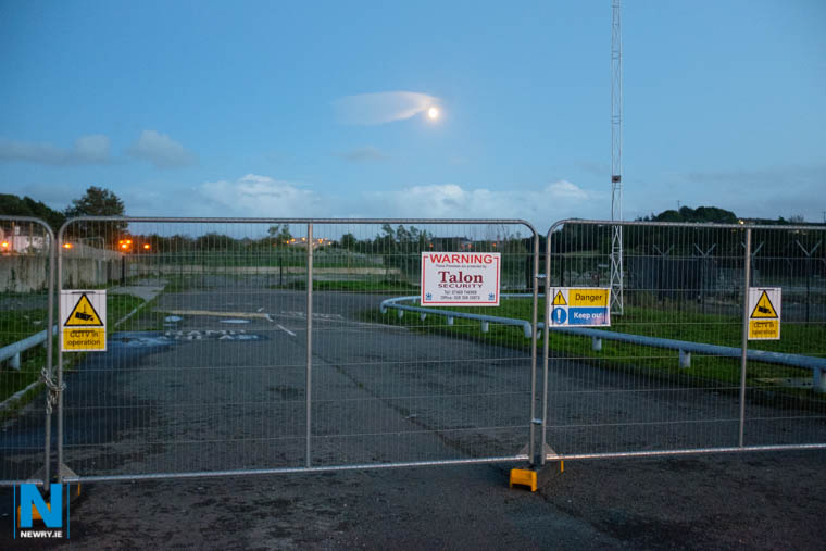 The entrance to the site of the proposed development at Carnbane. Photograph: Columba O'Hare/ Newry.ie